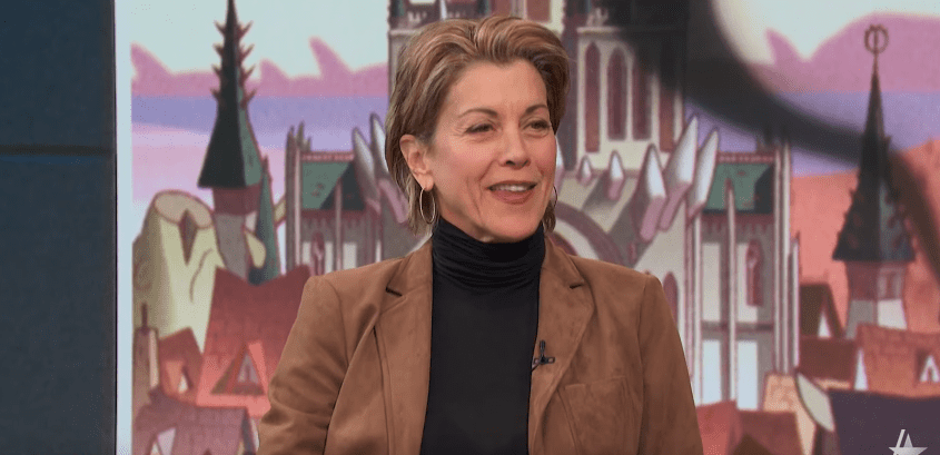 Photo of Wendie Malick during an interview with Access Daily's Mario Lopez and Scott Evans | Photo: Youtube / Access