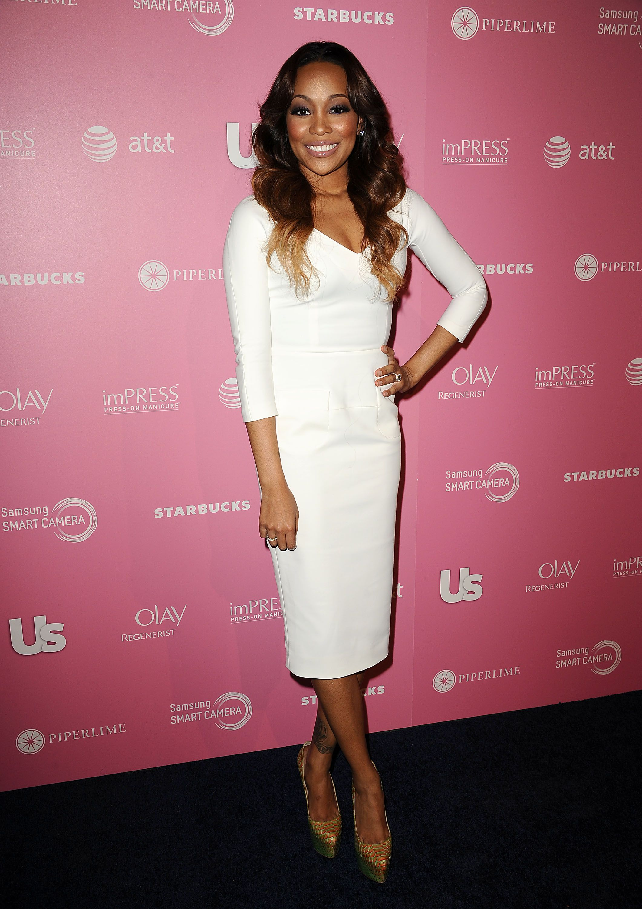 Monica Denise Brown during Us Weekly's Hot Hollywood 2012 style issue event at Greystone Manor Supperclub on April 18, 2012 in West Hollywood, California. | Source: Getty Images