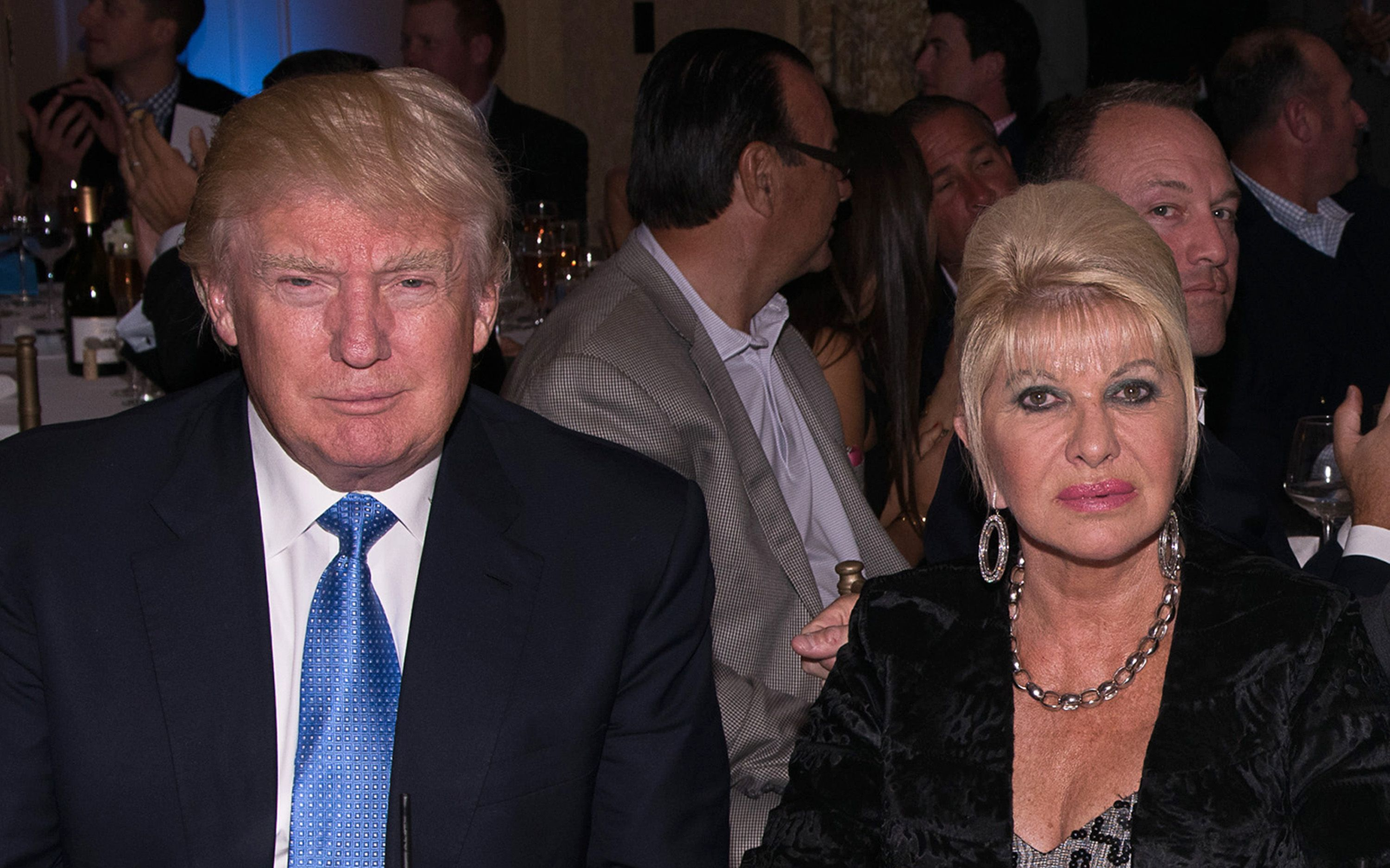 Donald Trump and Ivana Trump attend The Eric Trump 8th Annual Golf Tournament at Trump National Golf Club Westchester on September 15, 2014 in Briarcliff Manor, New York. | Source: Getty Images