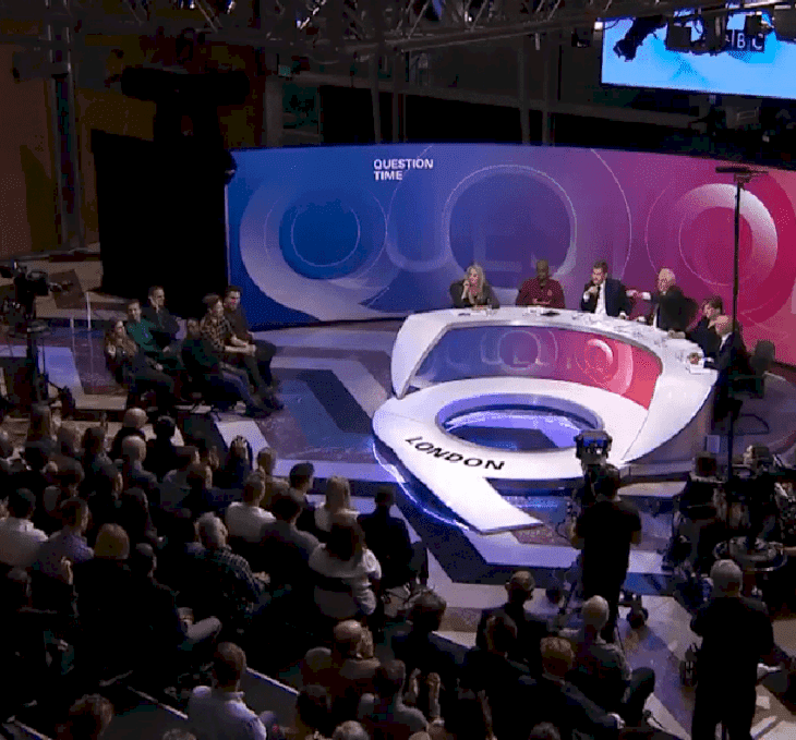 Source: Twitter/BBC Question Time