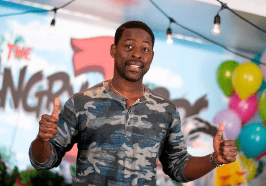 "Sterling K. Brown posed during a promotional photocall for ""Angry Birds 2"" at the London Hotel, on May 22, 2019, in West Hollywood, California 