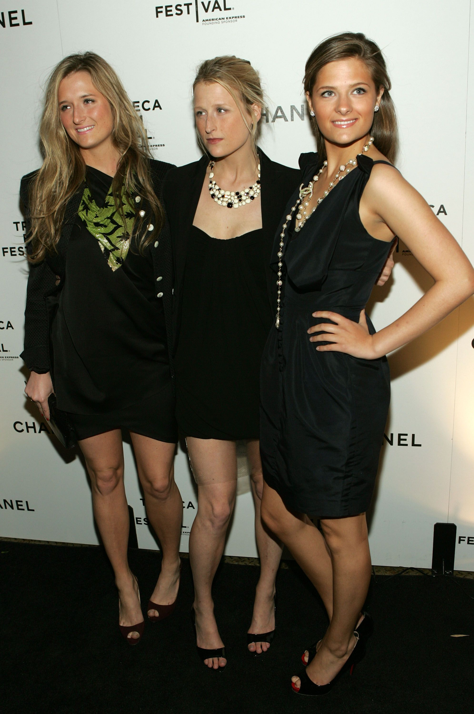 Gracie Gummer, Mamie Gummer and Louisa Jacobson at the Tribeca Film Festival Artists' Dinner in 2009 in New York City | Source: Getty Images