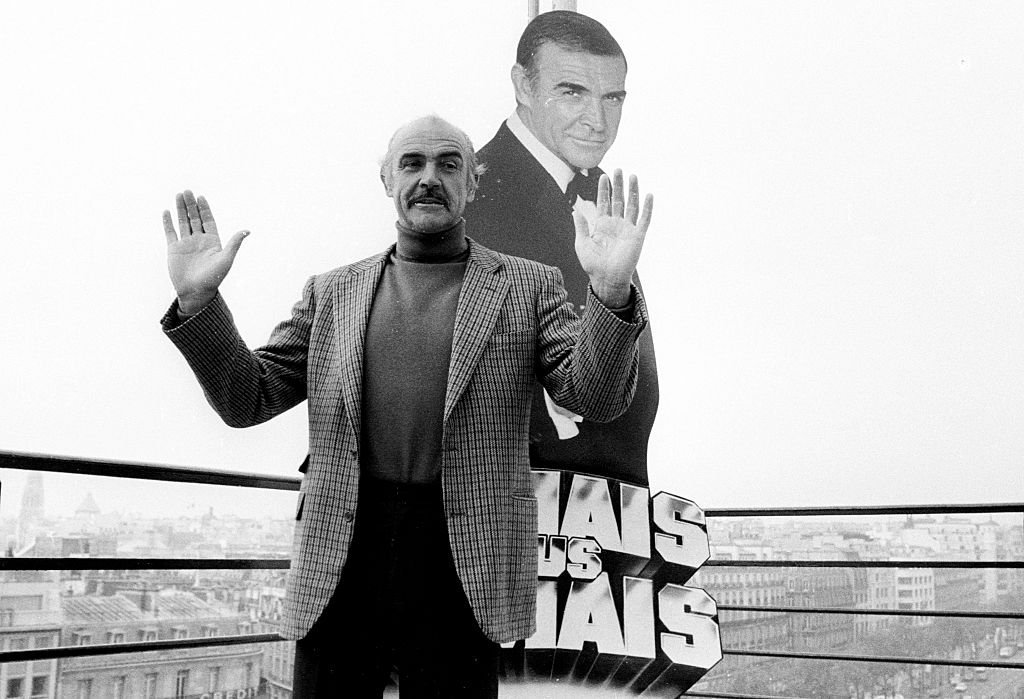 """""""Dr. No"""" star Sean Connery outside Champ Elysees in Paris, France circa 2000. 