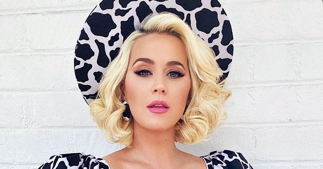 Katy Perry Rocks Cow-Printed Outfit as She Returns to the Set of 'American Idol' (Photos)