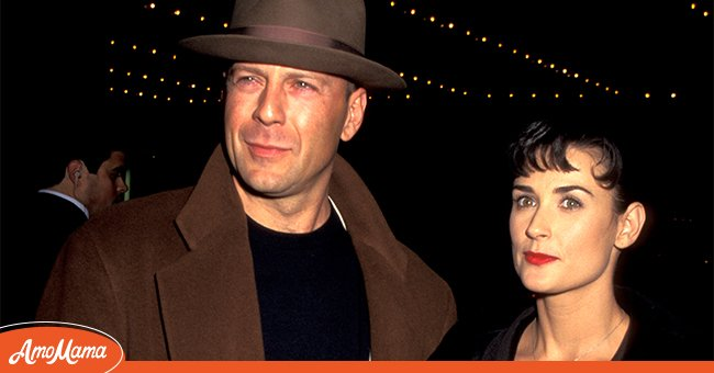 """Bruce Willis and Demi Moore pictured at the """"The Juror"""" Los Angeles Premiere.   Photo: Getty Images"""