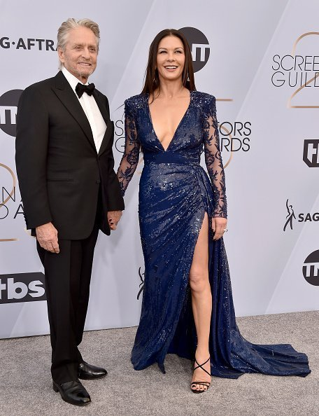Michael Douglas and Catherine Zeta-Jones attend the 25th Annual Screen Actors Guild Awards at The Shrine Auditorium on January 27, 2019 in Los Angeles, California | Photo: Getty Images