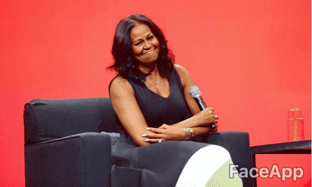 Michelle Obama | Quelle: Getty Images / FaceApp