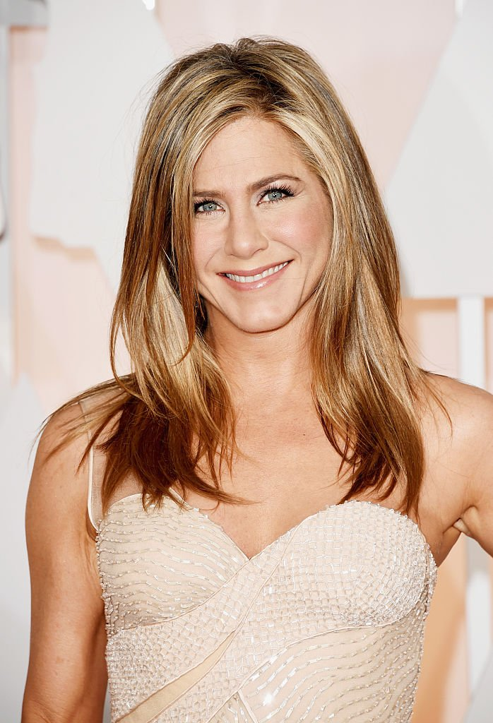 Jennifer Aniston participe à la 87ème cérémonie des Oscars en 2015. | Source: Getty Images