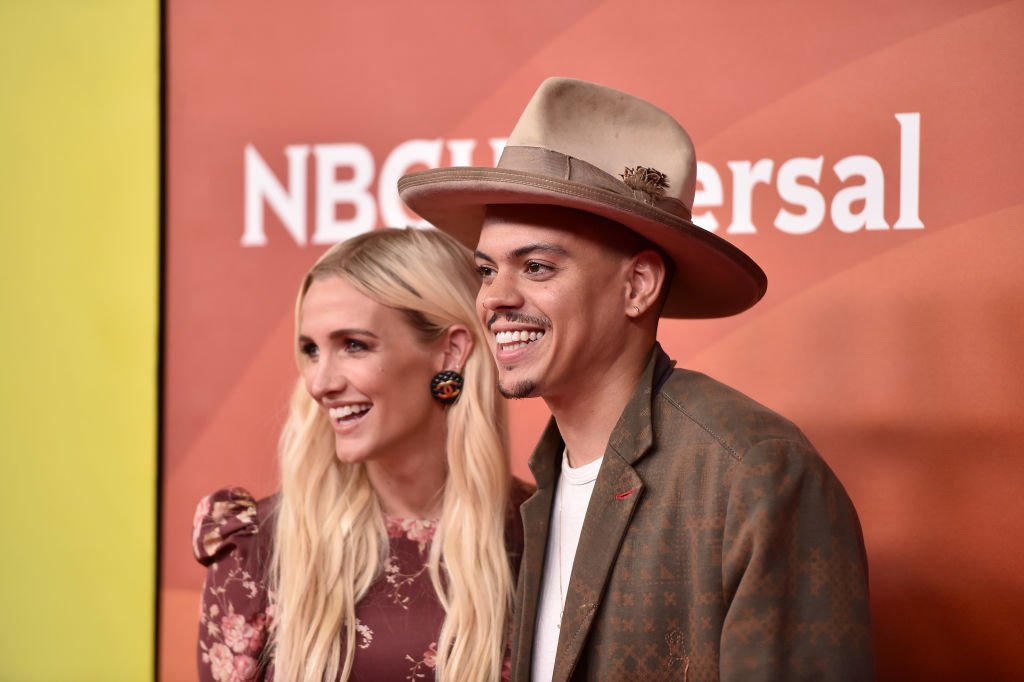 Ashlee Simpson and Evan Ross attend NBCUniversal's Summer Press Day 2018 held at Universal Studios Backlot on May 2, 2018. | Source: Getty Images