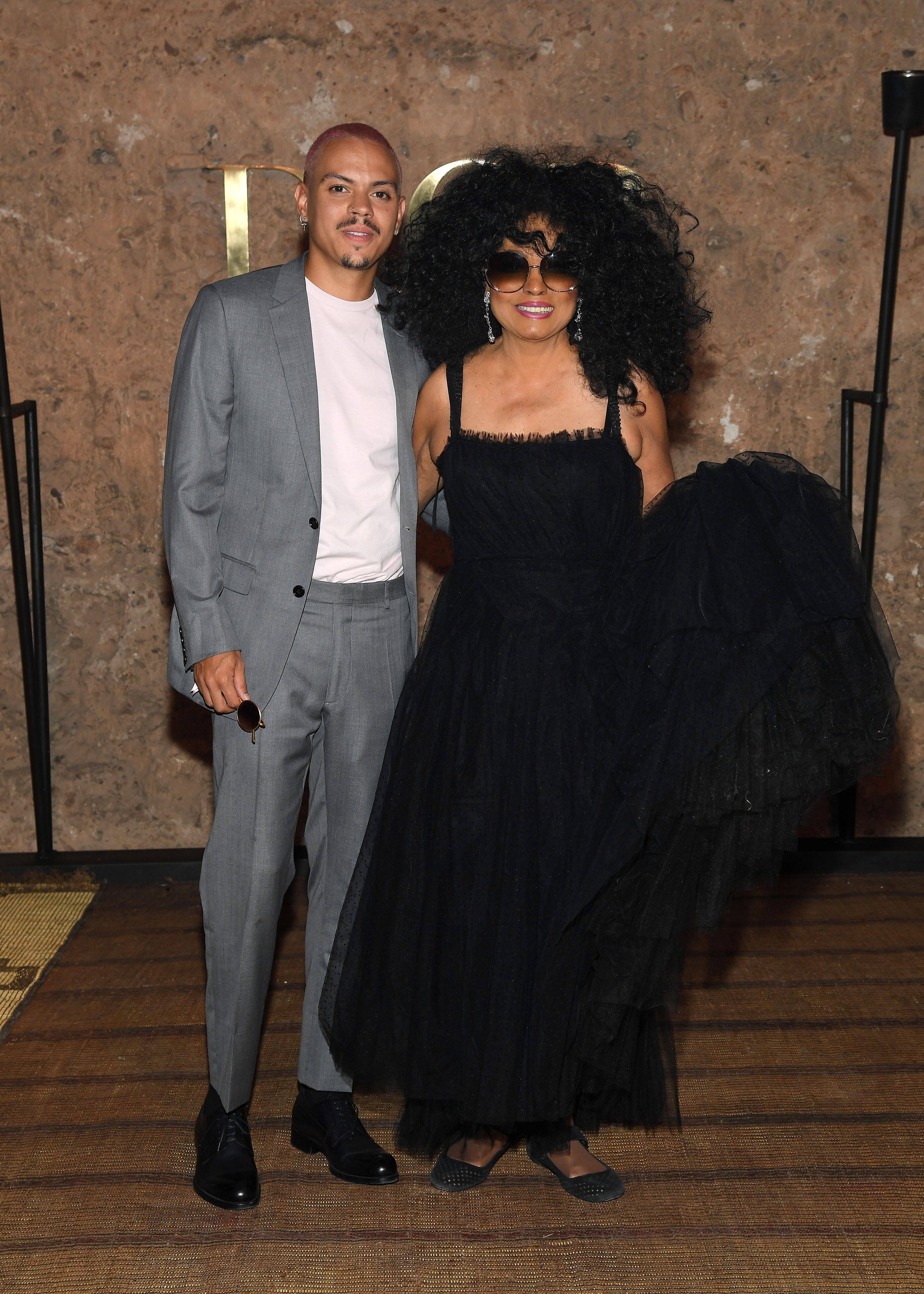 Evan Ross and Diana Ross at the Christian Dior Couture S/S20 Cruise Collection on April 29, 2019 in Marrakech, Morocco. | Photo: Getty Images