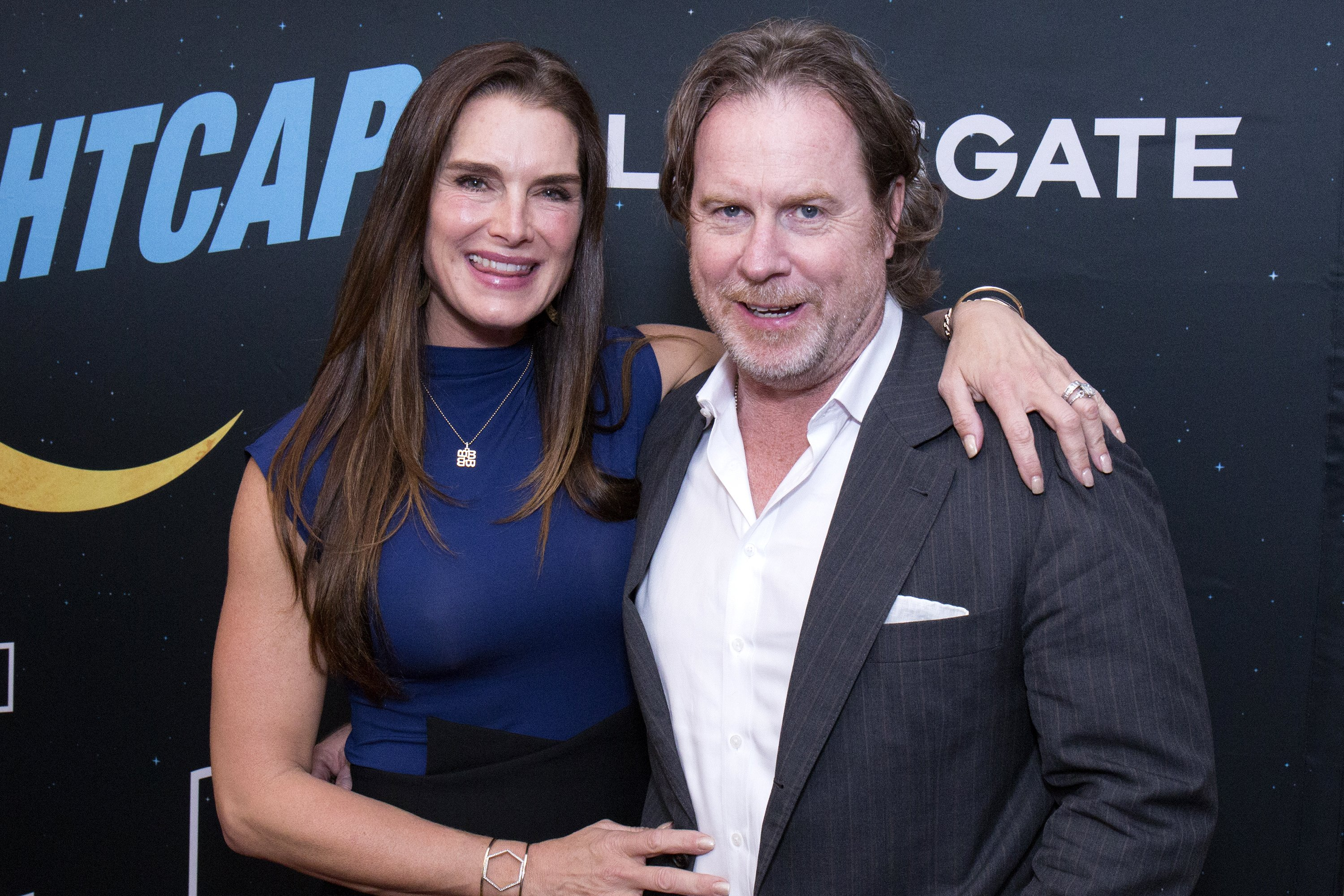 """Brooke Shields and Chris Henchy attend """"Nightcap"""" Season 2 New York Premiere Party on June 6, 2017, in New York City. 