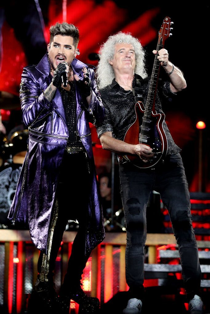 Adam Lambert performs alongside Brian May for a benefit concert at ANZ Stadium on February 15, 2020, in Sydney, Australia| Source: Getty Images (Photo by Don Arnold/WireImage)
