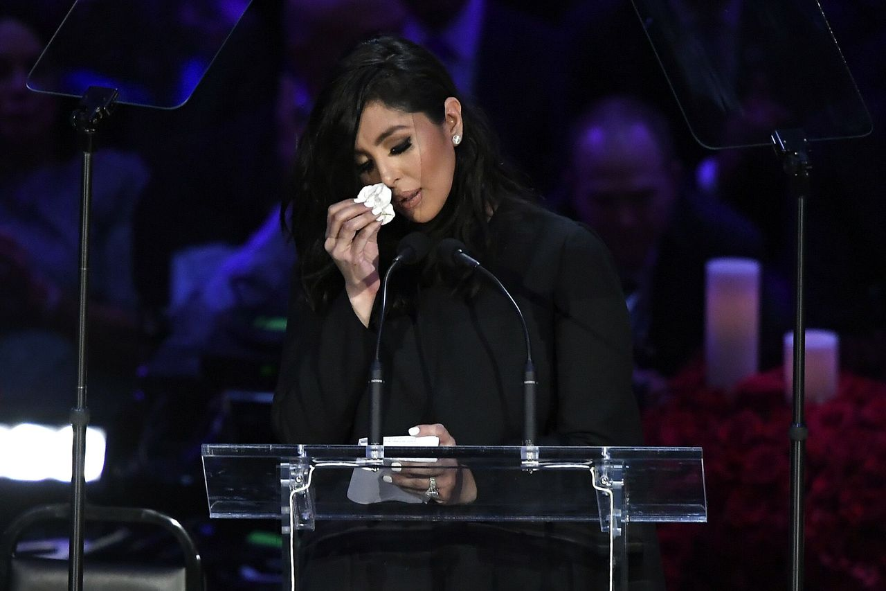 Vanessa Bryant speaks during The Celebration of Life for Kobe & Gianna Bryant at Staples Center on February 24, 2020 in Los Angeles, California | Photo: Getty Images