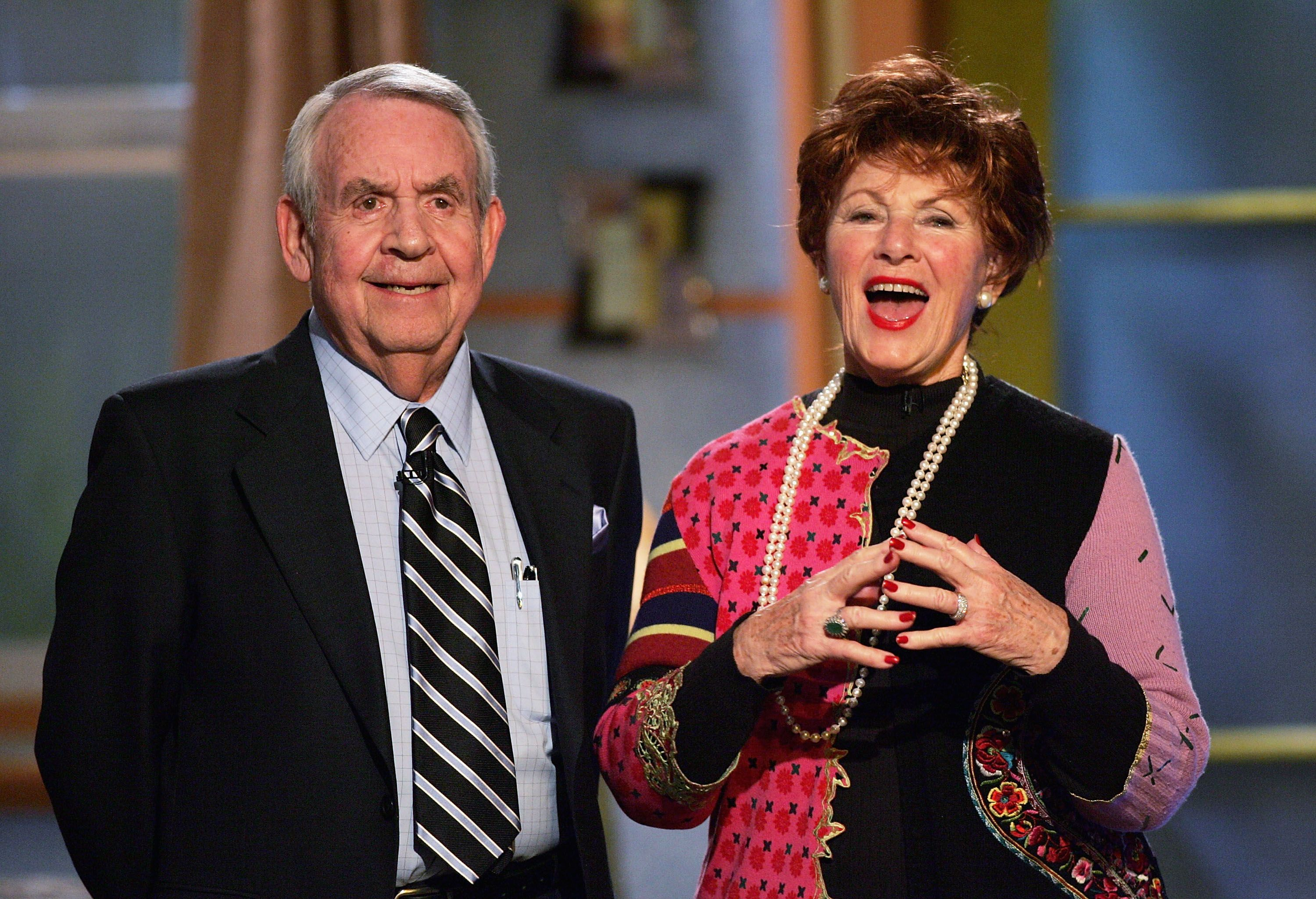 """Tom Bosley and """"Happy Days"""" co-star Marion Ross at the 6th Annual Family Television Awards on December 1, 2004   Source: Getty Images"""