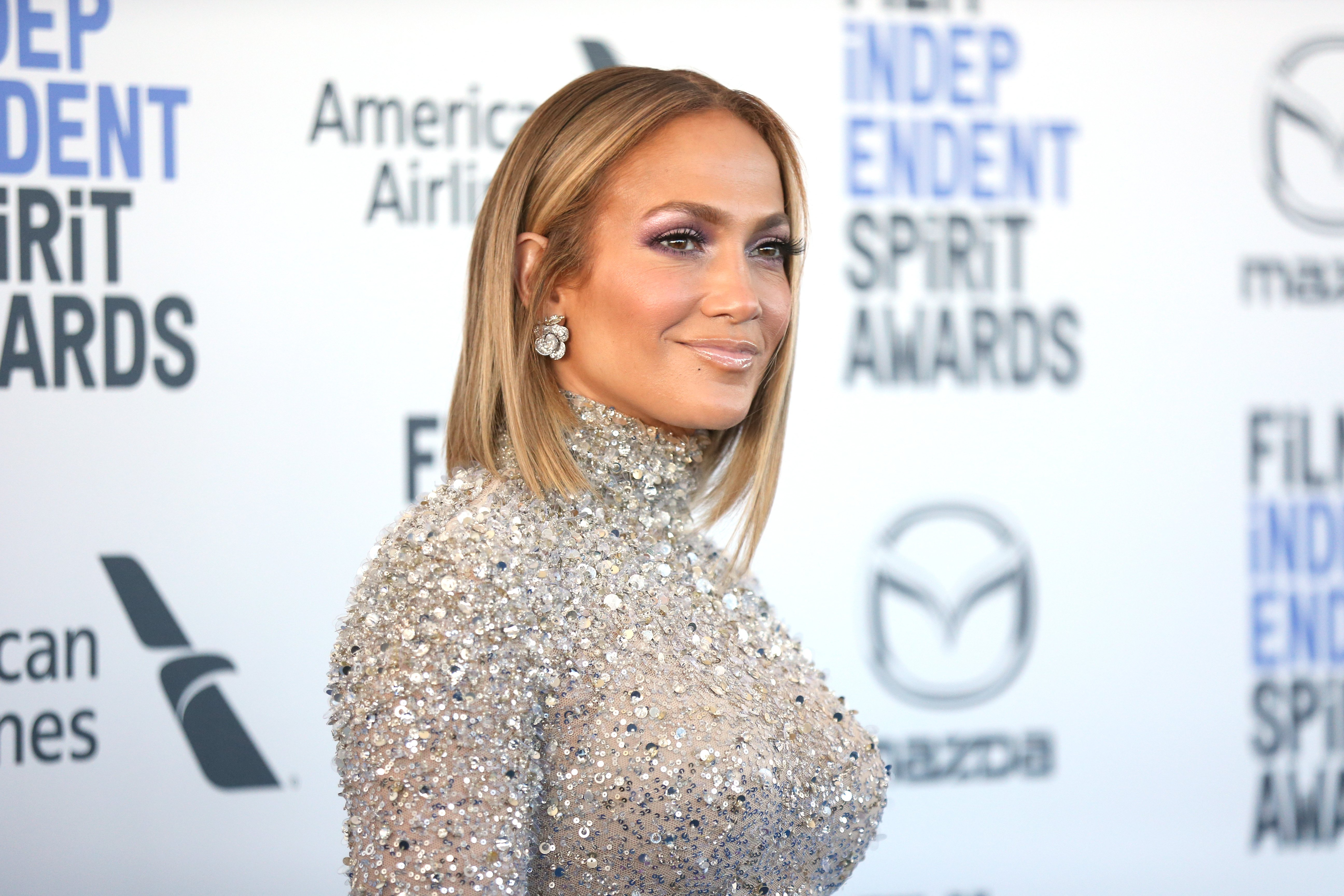 Jennifer Lopez pictured at the 2020 Film Independent Spirit Awards on February 08, 2020 in Santa Monica, California. | Source: Getty Images