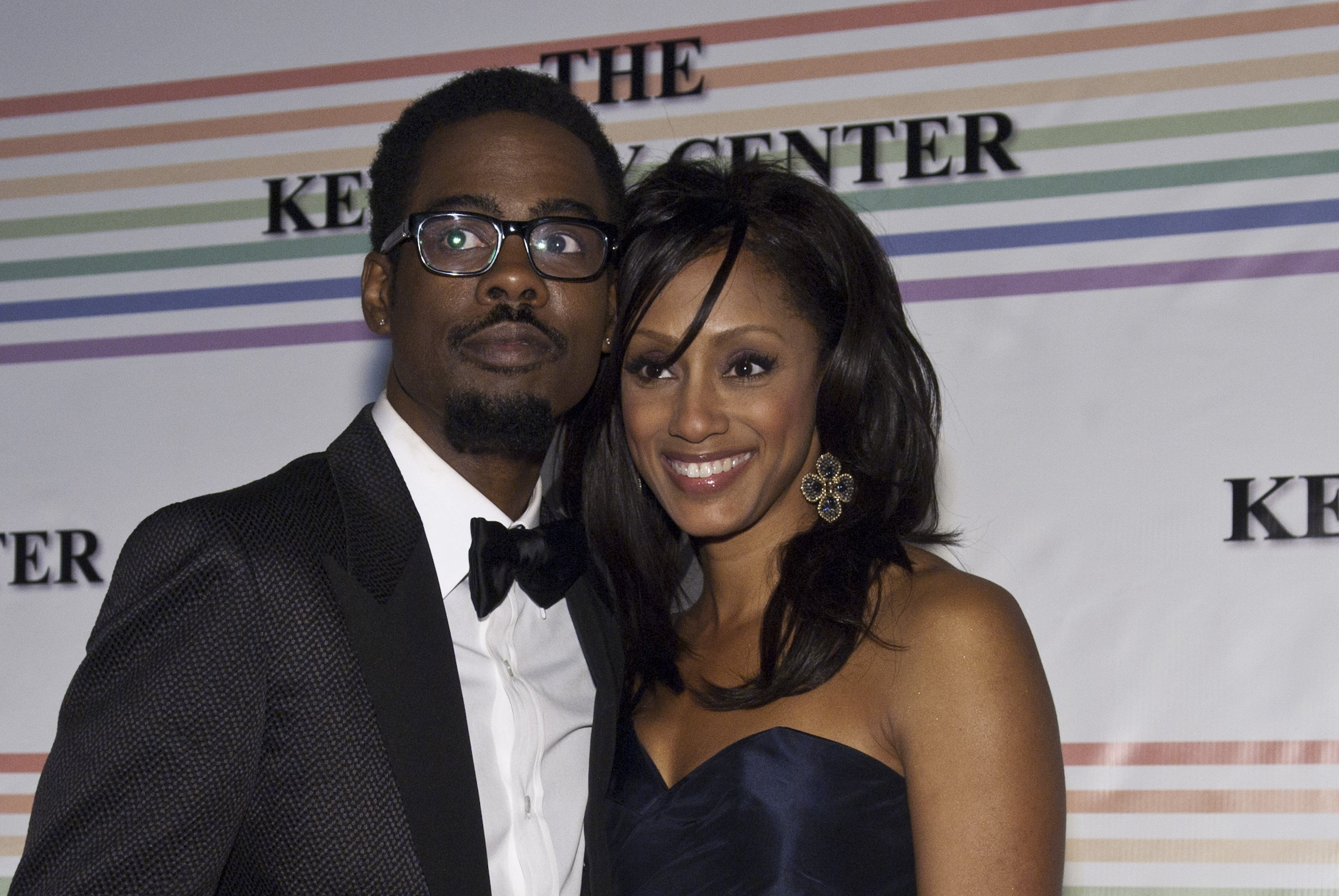 Chris Rock and Malaak Rock pose for photos during the 33rd Annual Kennedy Center on December 5, 2010 in Washington, DC.   Source: Getty Images