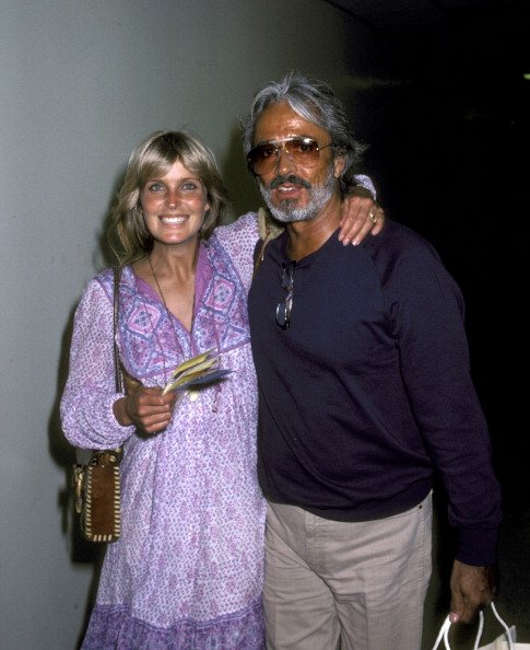 Bo Derek and John Derek on July 22, 1981 at La Guardia Airport in New York City, New York, United States. | Photo: Getty Images