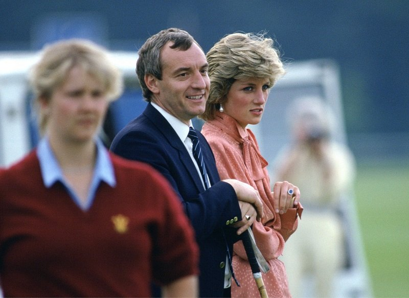 Diana, Princess of Wales and Barry Mannakee at Guards Polo Club in London, England on June 20, 1985   Photo: Getty Images