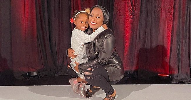 'The Cosby Show' Star Keshia K Pulliam Brings Her Daughter to Work Wearing a Cute Gray Dress
