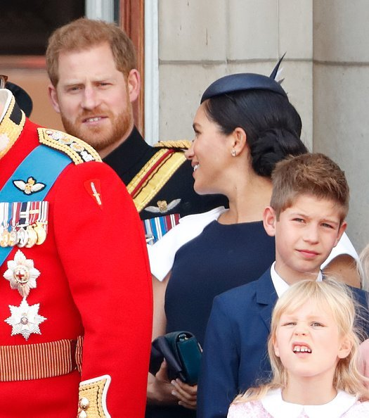 Prince Harry and Meghan Markle at the balcony of Buckingham Palace during Trooping The Colour on June 8, 2019 in London, England | Photo: Getty Images