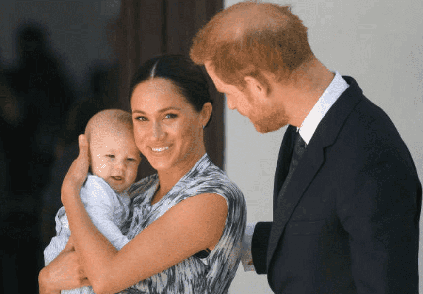 Prince Harry, Meghan Markle and their baby son, Archie Mountbatten-Windsor meet Archbishop Desmond Tutu at the Desmond & Leah Tutu Legacy Foundation during their royal tour of South Africa, on September 25, 2019, in Cape Town, South Africa | Source: Getty Images (Photo by Pool/Samir Hussein/WireImage)