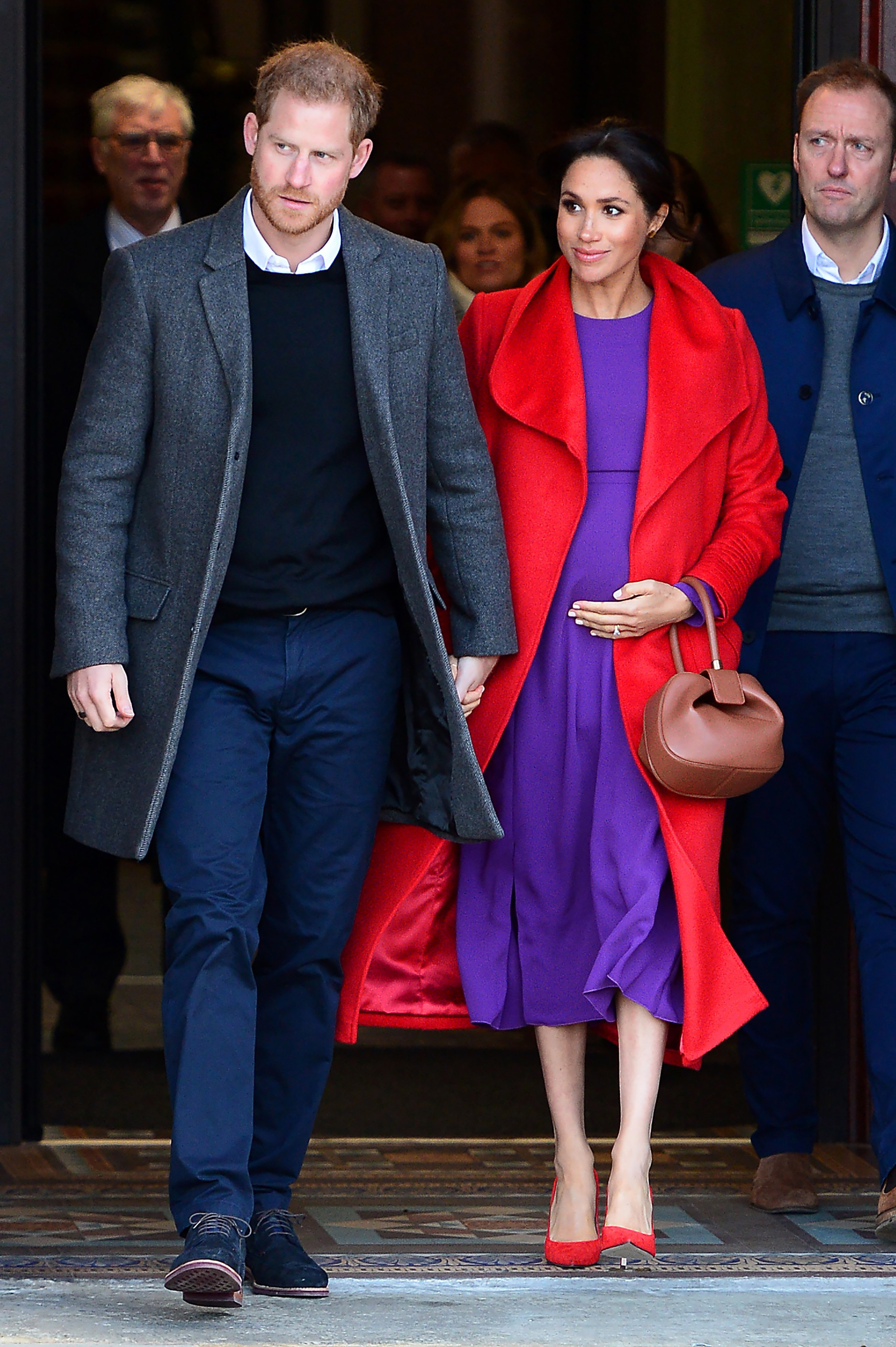 Prince Harry, Duke of Sussex and Meghan, Duchess of Sussex depart from Birkenhead Town Hall on January 14, 2019, in Birkenhead, England.   Source: Getty Images.