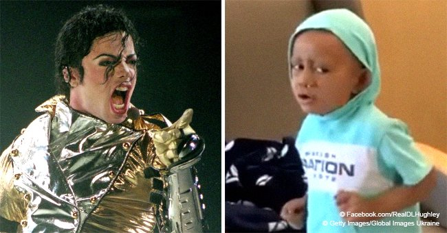 5-year-old boy fighting cancer shows off his dance moves while listening to Michael Jackson