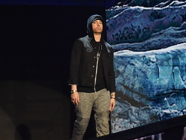 Eminem performs on stage during the MTV EMAs 2017 held at The SSE Arena, Wembley on November 12, 2017 in London, England | Photo: Getty Images