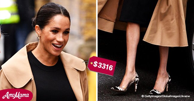 Meghan Markle flashes huge bump in discreet outfit at her first public engagement of 2019