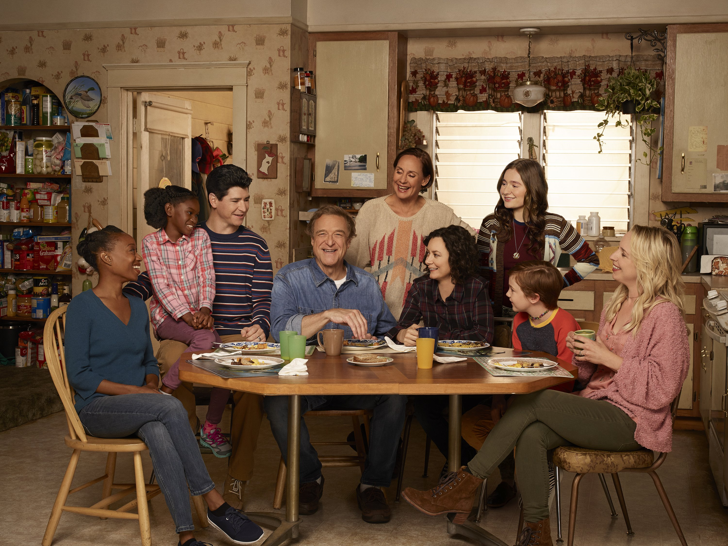 """""""The Conners"""" cast on set of the show. 