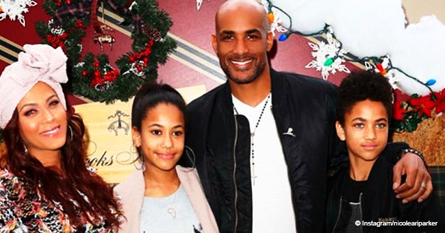 Boris Kodjoe and Nicole Ari Parker strike a pose with their grown kids who are their mini-mes