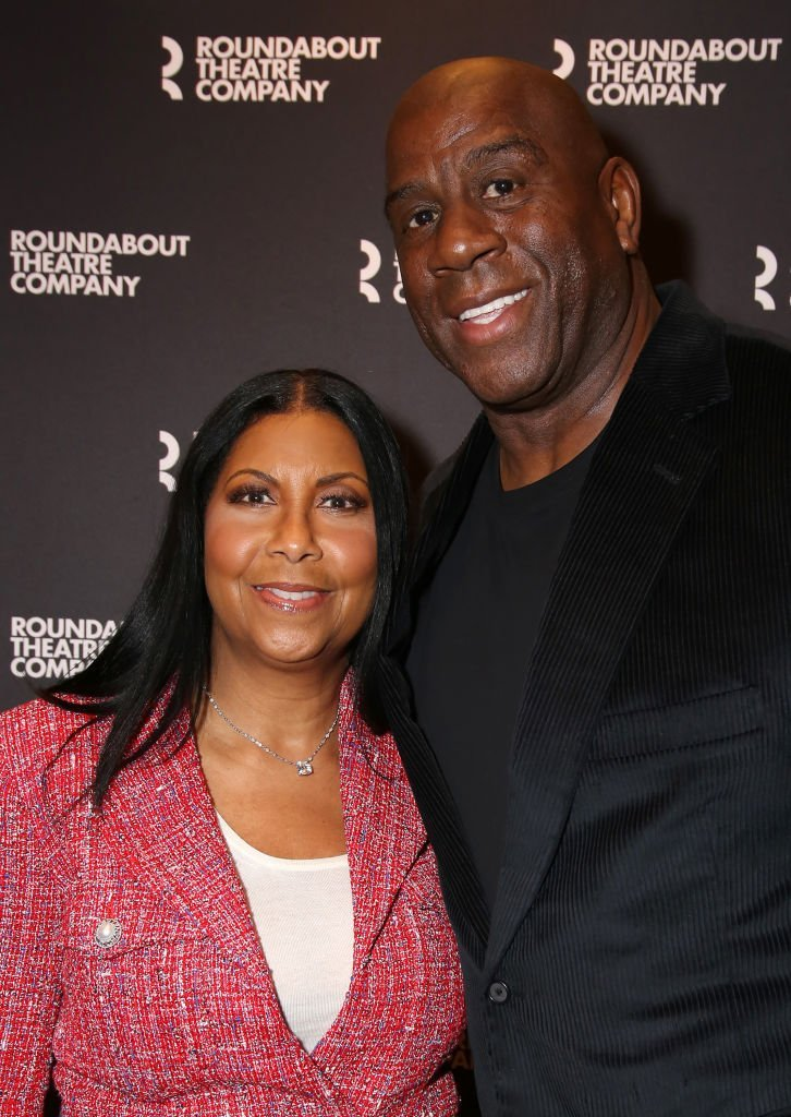 """Cookie Johnson and Magic Johnson attend the Broadway Opening Night performance for The Roundabout Theatre Company's """"A Soldier's Play"""" at the American Airlines Theatre 