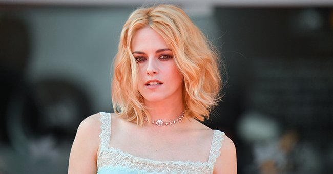 """Kristen Stewart pictured on the red carpet for """"Spencer"""" during the 78th Venice International Film Festival, 2021, Venice, Italy.   Photo: Getty Images"""