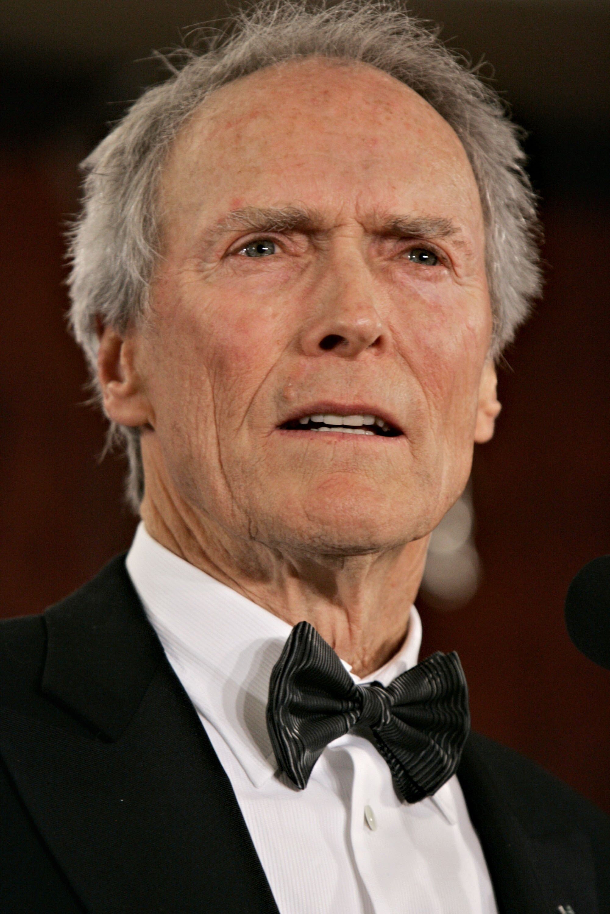 Clint Eastwood speaks after accepting his Lifetime Achievement Award in the press room during the 58th Annual Directors Guild Of America Awards held at Hyatt Regency Century Plaza on January 28, 2006 in Los Angeles, California. | Source: Getty Images