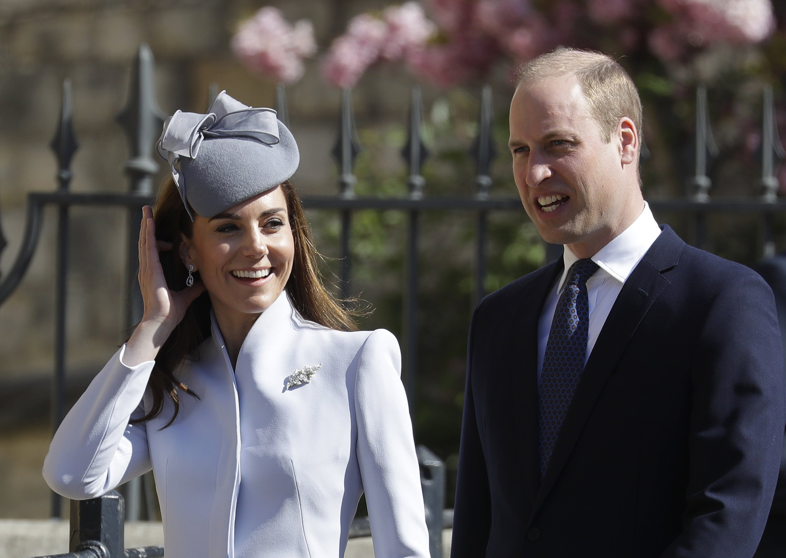 Le prince William et Kate Middleton au service du dimanche de Pâques à la chapelle St George's | Photo : Getty Images