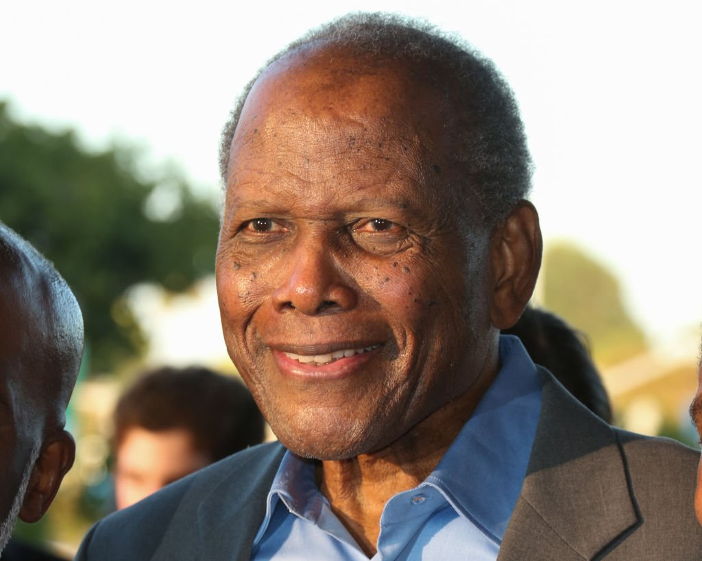 """Actor Sidney Poitier attends the opening night of """"Born For This"""" at The Broad Stage on July 20, 2017. 