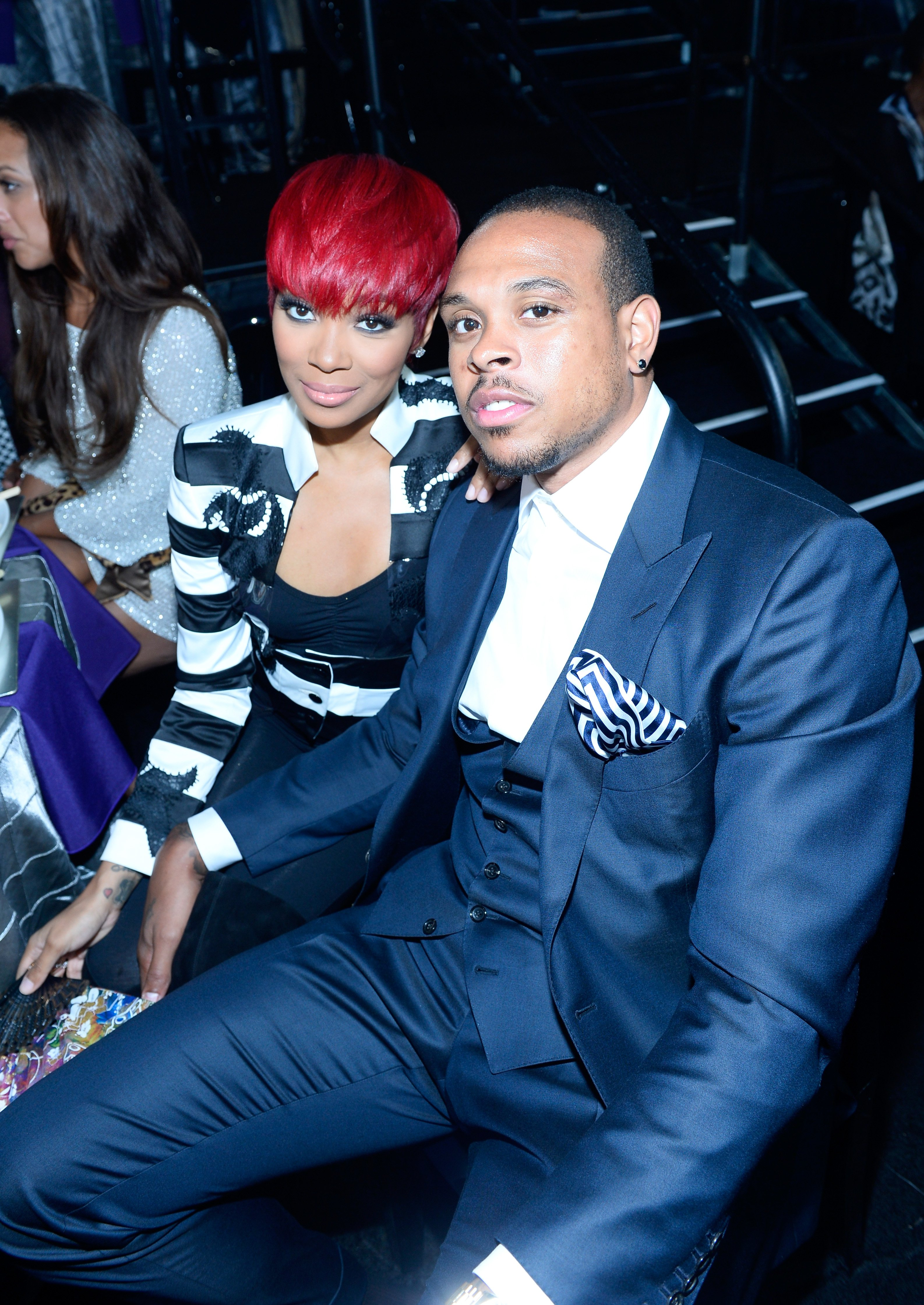 Monica and Shannon Brown at a BET event in July 2015.