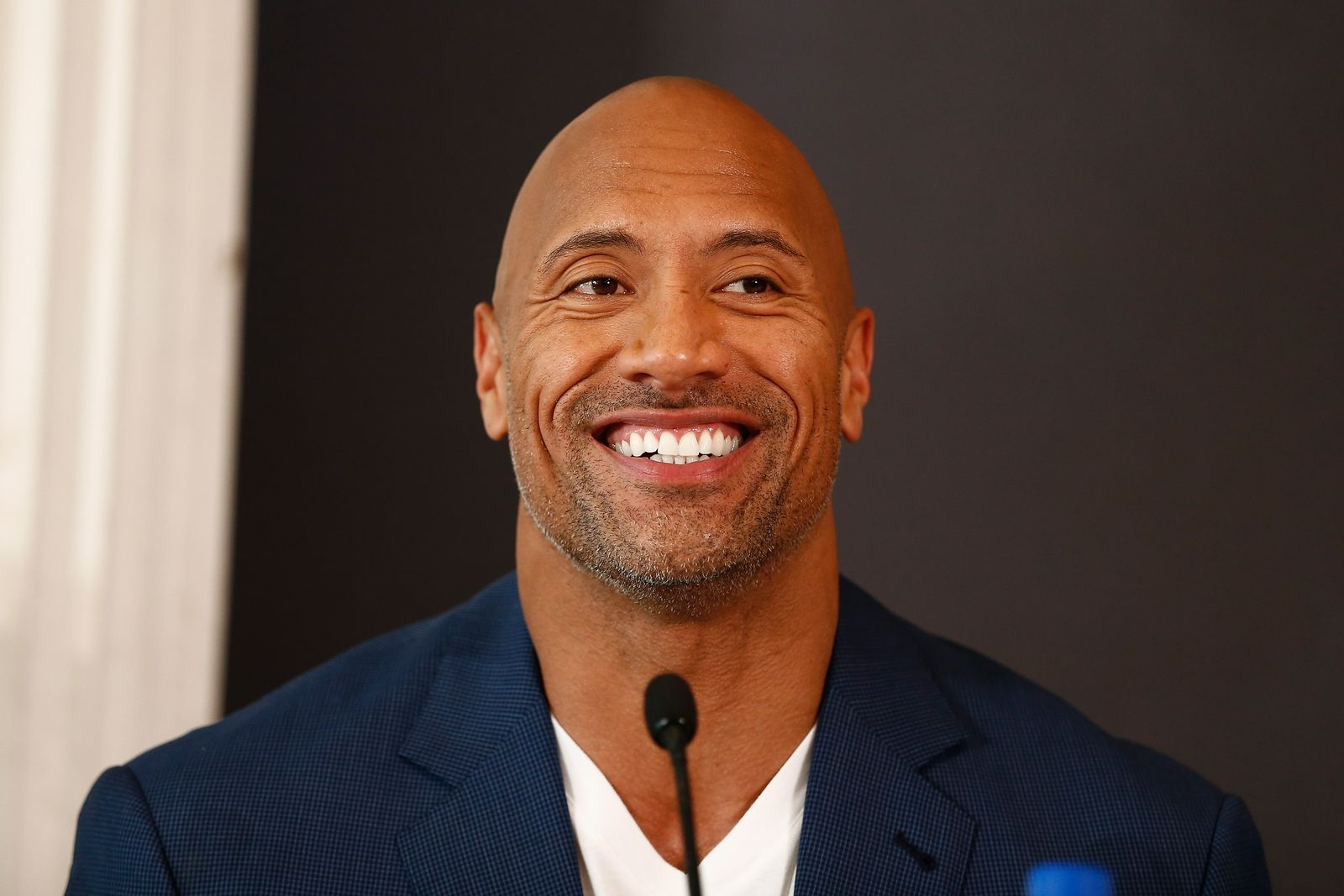 "Dwayne Johnson at the press conference of Paramount Pictures' ""Hercules"" at Hotel Adlon on August 21, 2014 