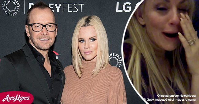 Donnie Wahlberg shared an emotional video of wife Jenny McCarthy crying