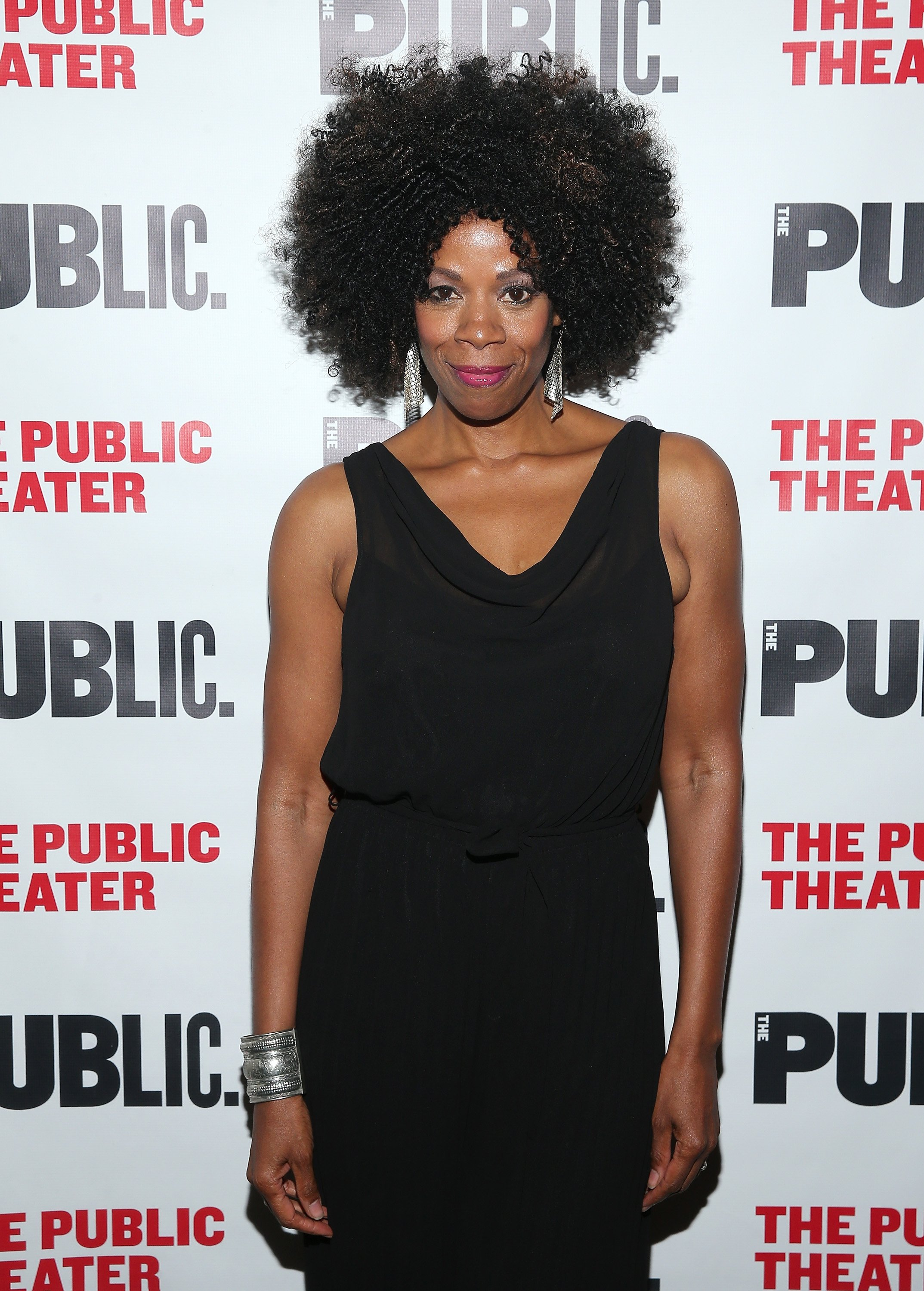 """Kim Wayans attends the celebration of the """"Barbecue"""" opening night at The Public Theater in New York City on October 8, 2015. 