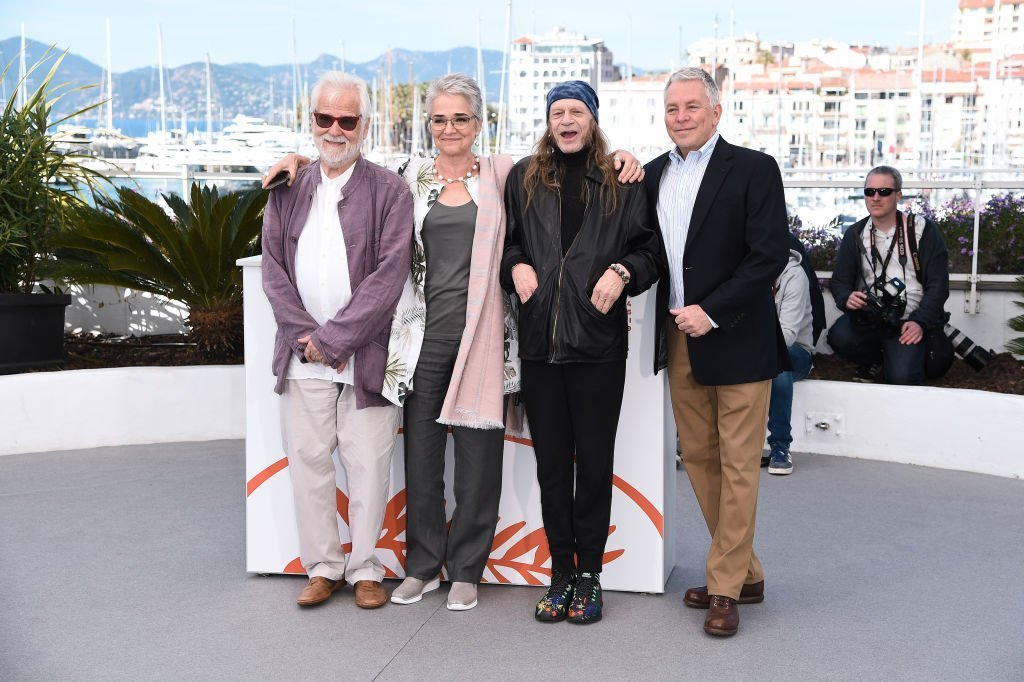 "Producer Jan Harlan, Katharina Kubrick, Leon Vitali with guest attend the photocall for ""The Shining"" during the 72nd annual Cannes Film Festival  
