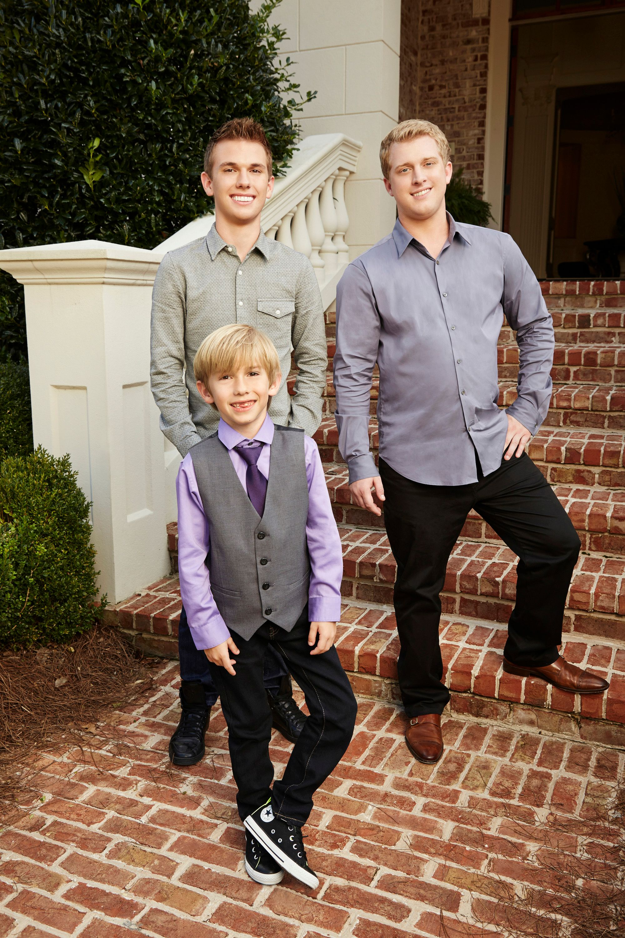 """Grayson, Chase, and Kyle Chrisley on season 1 of """"Chrisley Knows Best"""" on October 02, 2013 