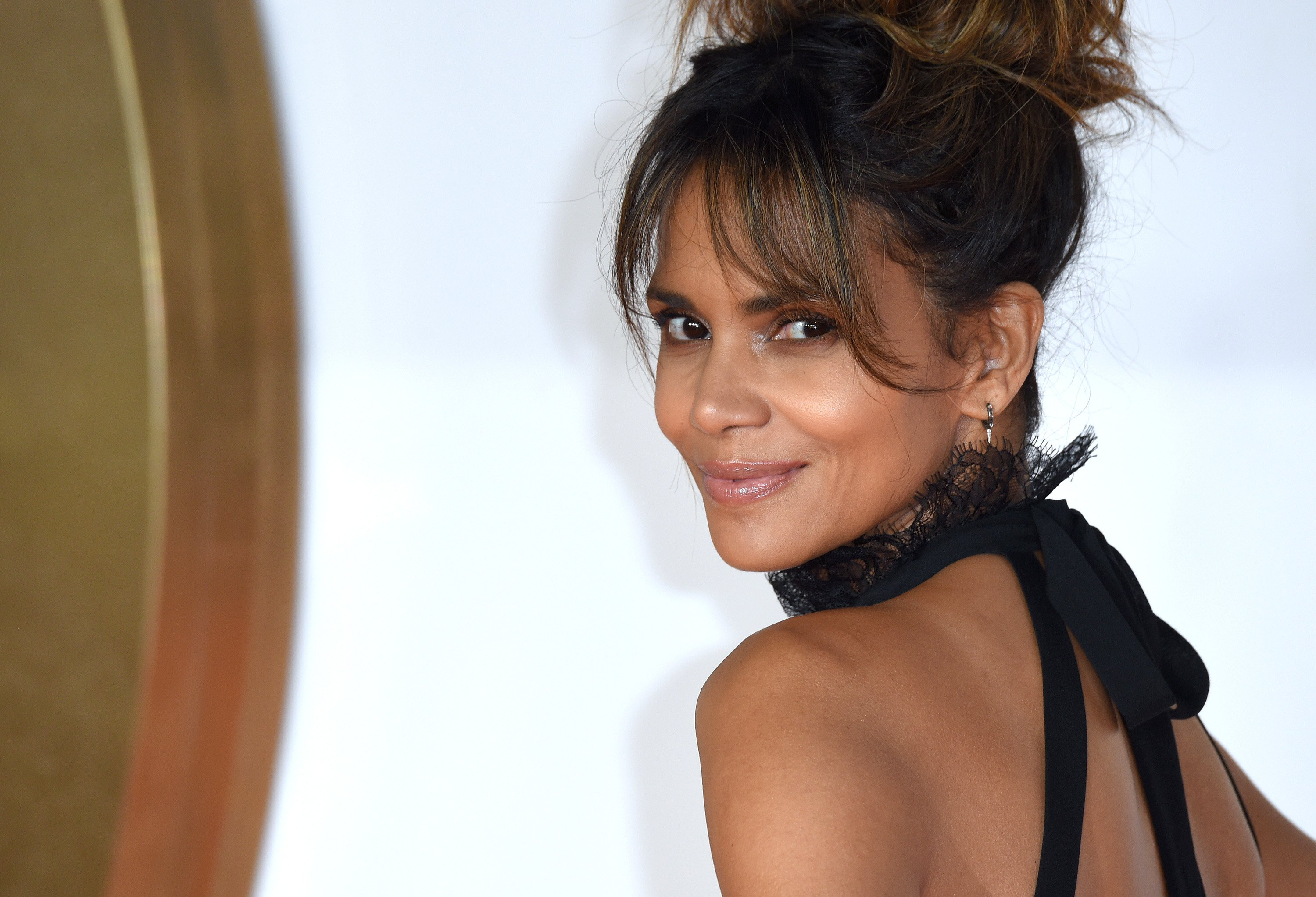 "Halle Berry at the world premiere of ""Kingsman: The Golden Circle"" in September 2017. 