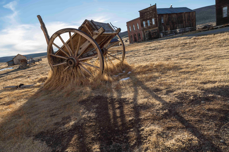 Wagon in a field. | Source: Pexels