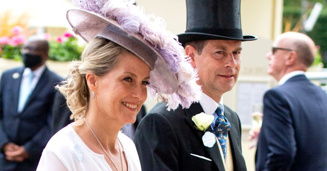 Countess of Wessex Steals Hearts in a Floral-Print Outfit & Hat with Feathers at Royal Ascot