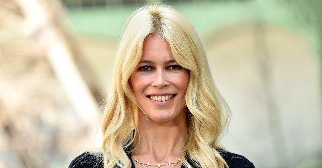 Claudia Schiffer at the Chanel Haute Couture Fall/Winter 2017-2018 in Paris, France on July 4, 2017.   Photo: Getty Images