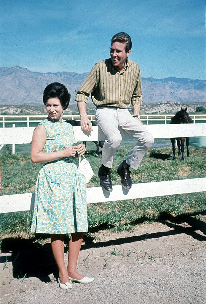 Princess Margaret (L) and Lord Snowdon visit a ranch in 1965 in Arizona | Getty Images