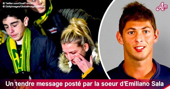 """""""Je t'aime pour toujours"""" : le message d'adieu de la sœur d'Emiliano Sala"""