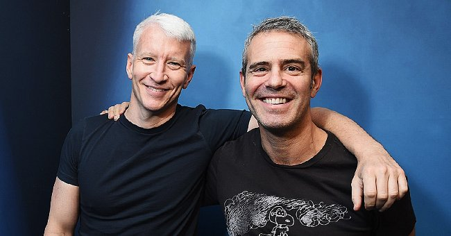 Anderson Cooper Visits Andy Cohen from a Distance after He Recovered from Coronavirus