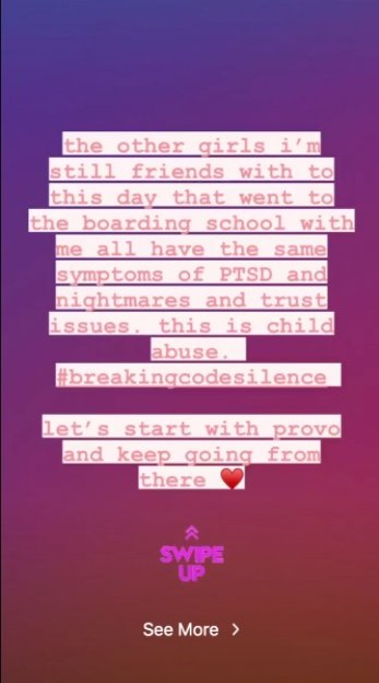 Paris Jackson's message of support to Paris Hilton on October 2020 | Photo: Instagram Story/parisjackson